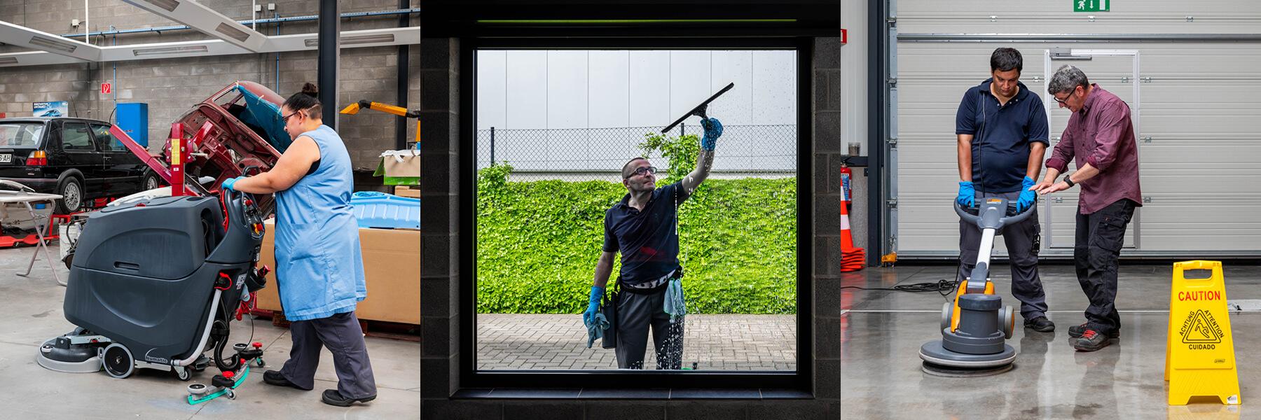 Agent de nettoyage professionnel